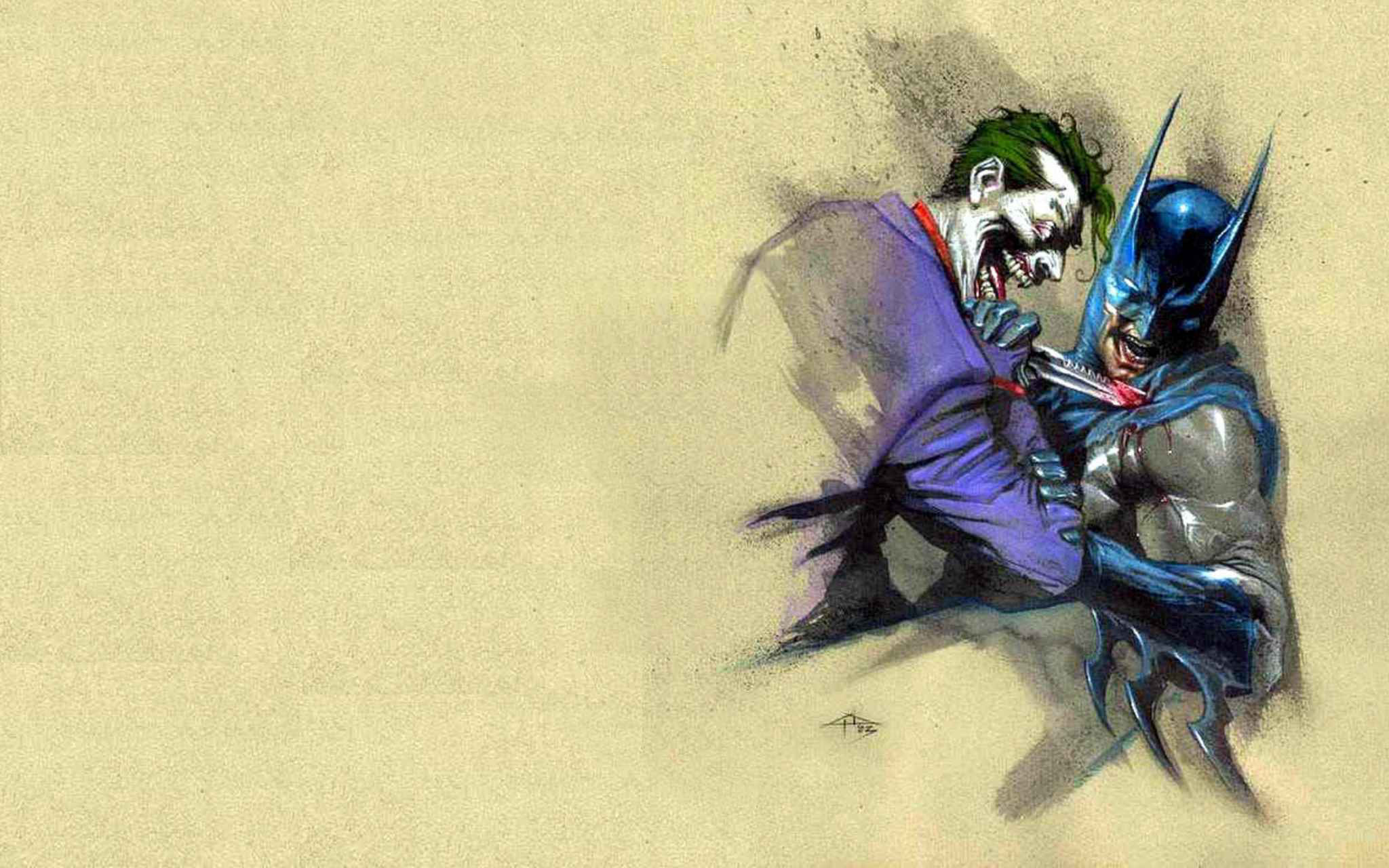 Batman and The Joker   Batman Wallpaper 1420992 2048x1280