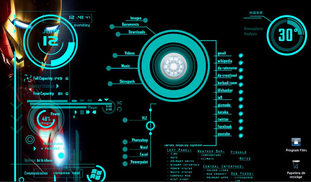 Iron Man Jarvis Desktop Wallpaper for Pinterest 1024x600