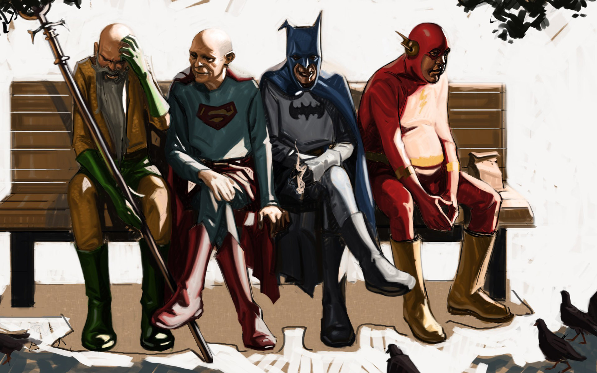Old superheroes wallpaper 19303 1920x1200