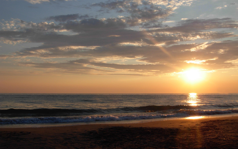 Beach Sunset HD wallpapers 2880x1800