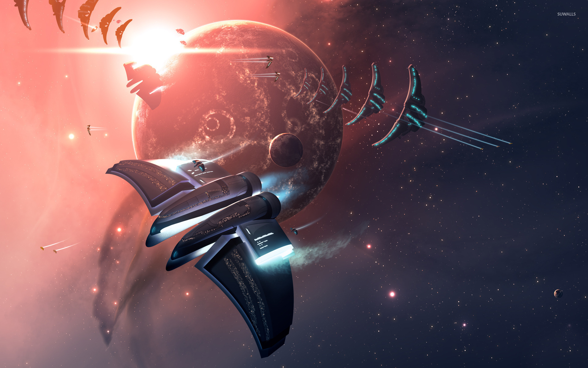 Space battle wallpaper   Fantasy wallpapers   17259 1920x1200
