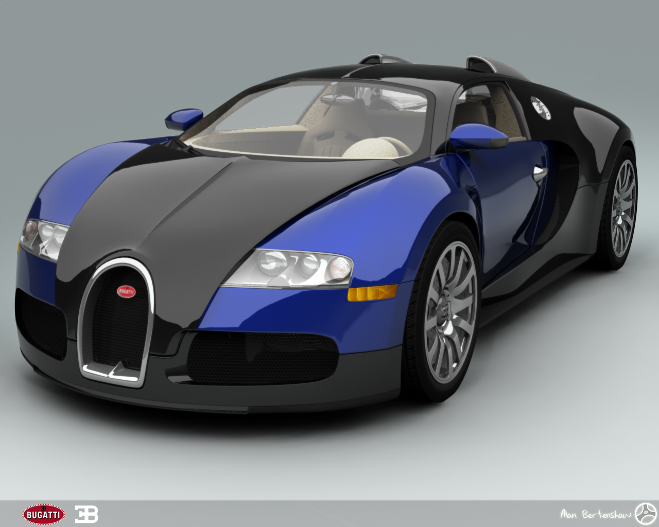 bugatti veyron blue Cool Car Wallpapers 1280x1024