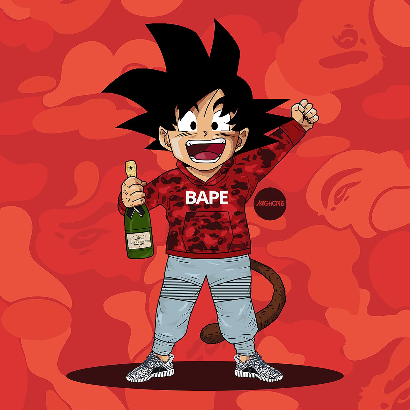 Dragon Ball Z x BAPE x Yeezy Boost 350 Turtle Dove on Behance 1400x1400
