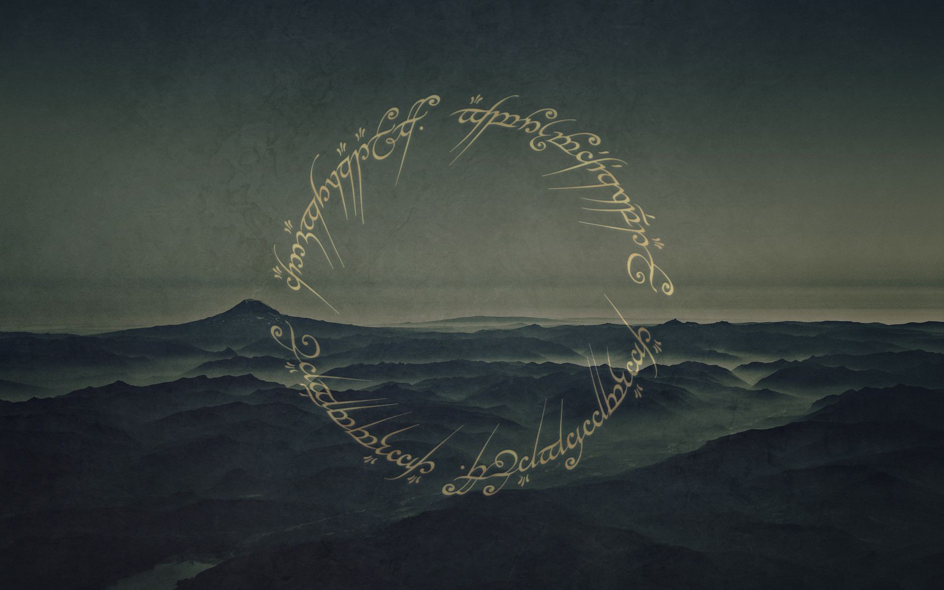 Tolkien esque wallpaper for the Hobbit movie [1920x1200] [oc] i 1920x1200