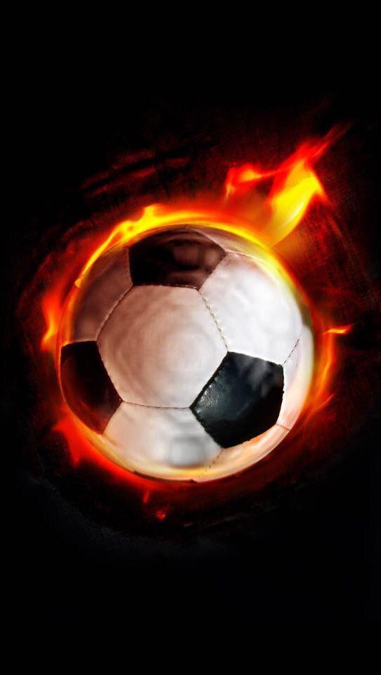Flaming Soccer Ball Wallpaper - WallpaperSafari