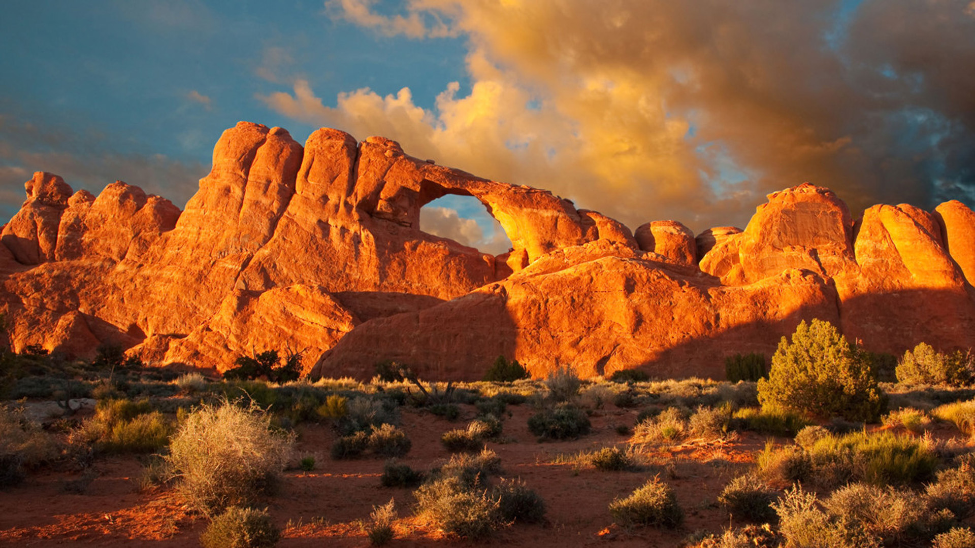 Large Natural Sandstone Arches Arches National Park North 1920x1080