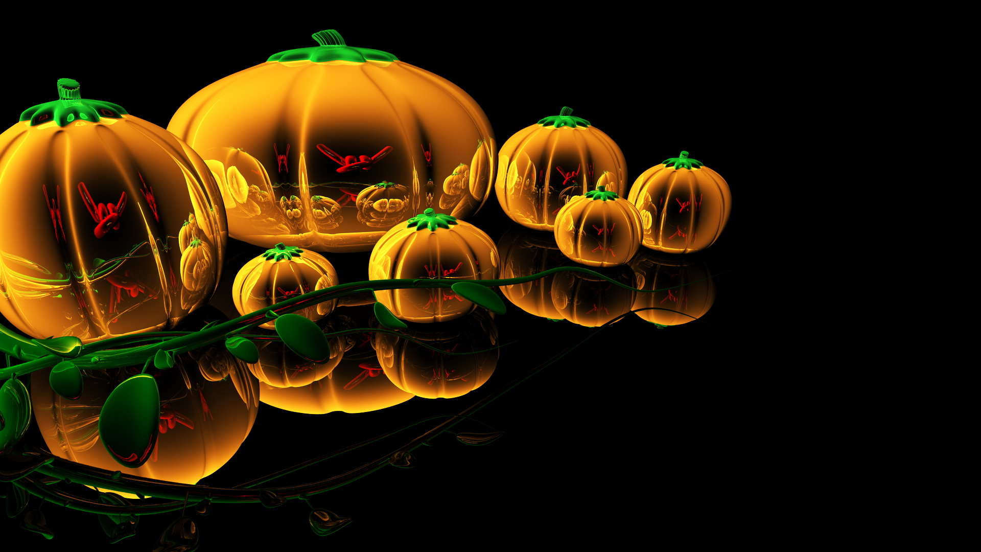 Free halloween 3d desktop wallpaper wallpapersafari Free 3d