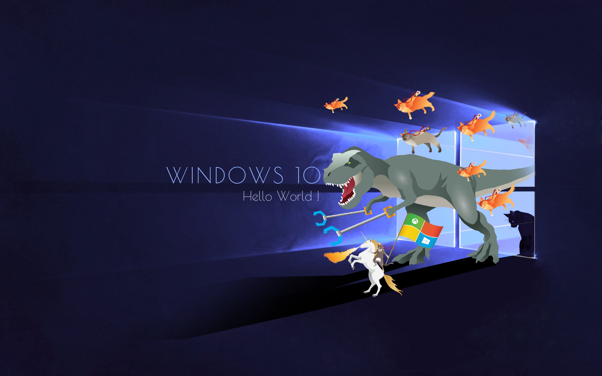 Windows 10 ninja cat wallpaper wallpapersafari for 10 40 window definition