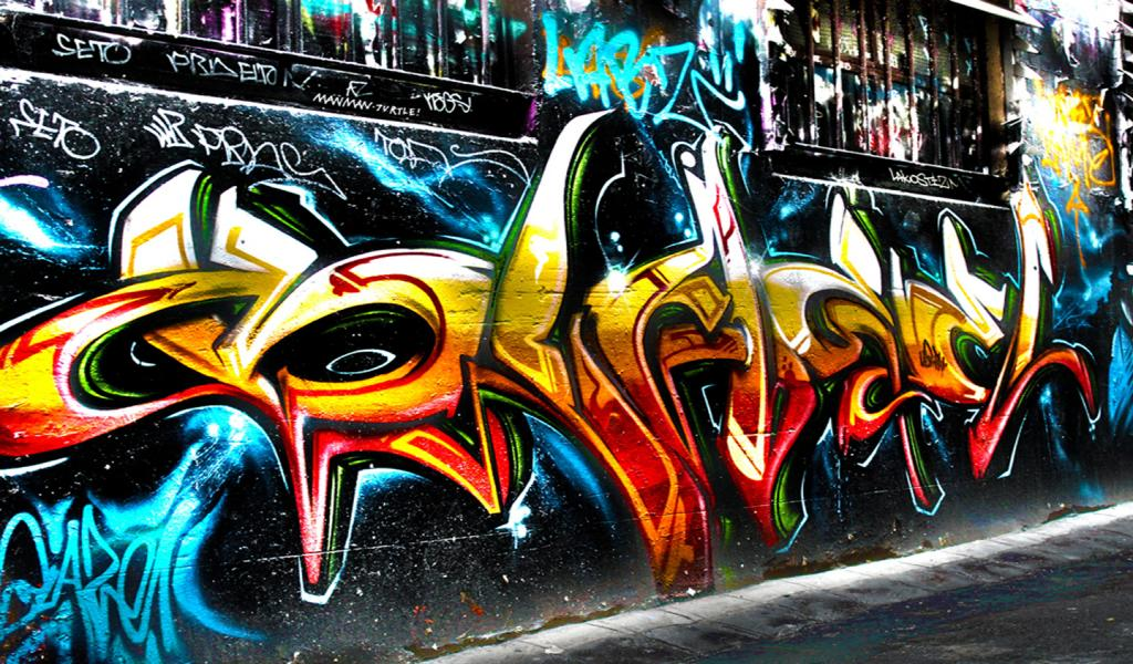 Name Graffiti Street Wall Widescreen Wallpaper HD WallscreenHD 1024x600