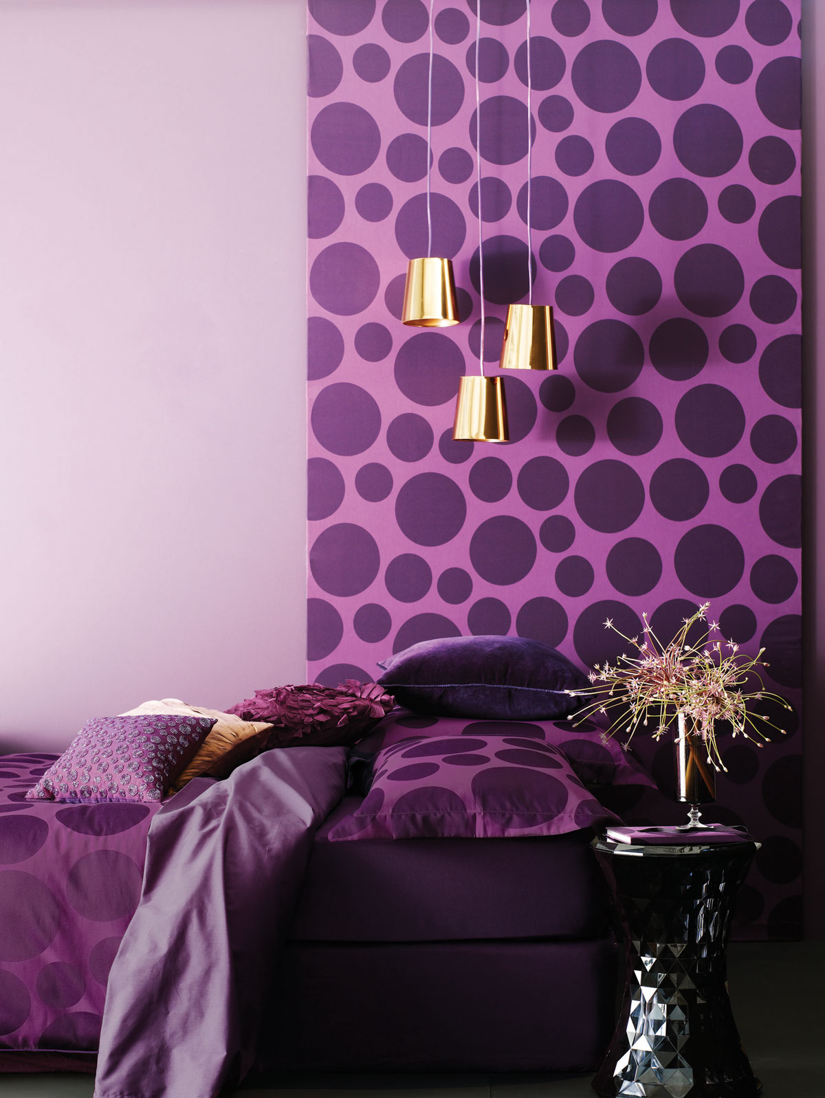 Awesome Purple Wall Decor For Bedrooms