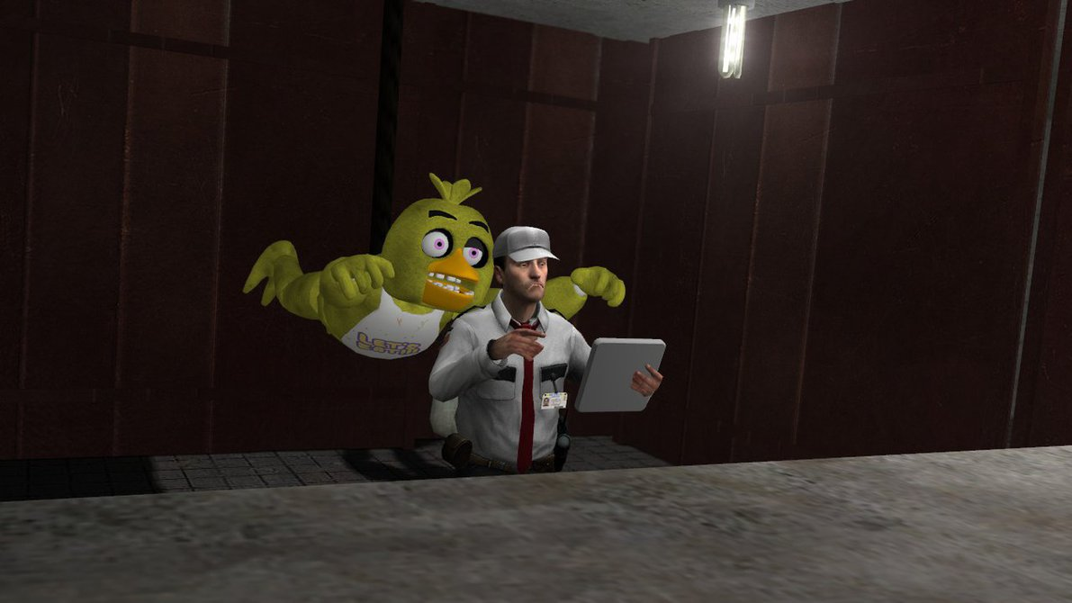 Mission Implausible funny FNaF Gmod fanart by Aeropulse on 1191x670