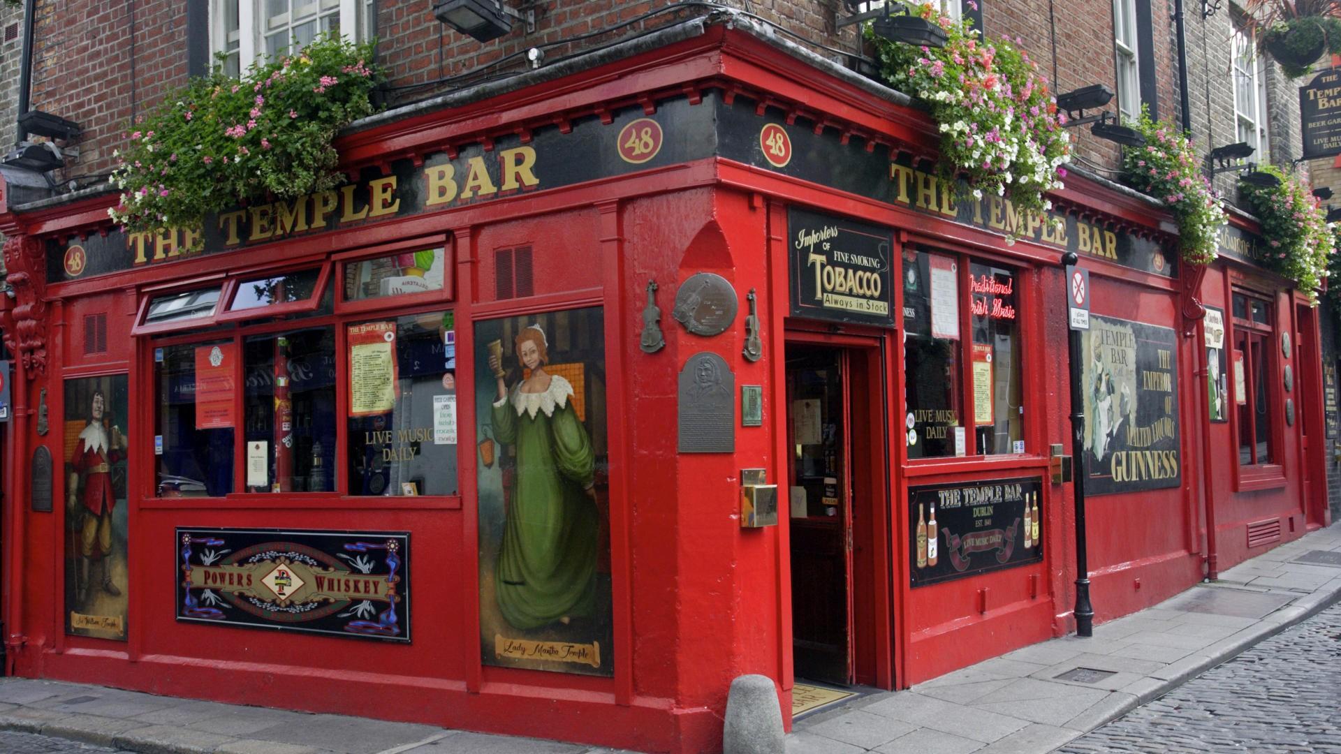 Man Made   Building Dublin Ireland Pub Wallpaper 1920x1080