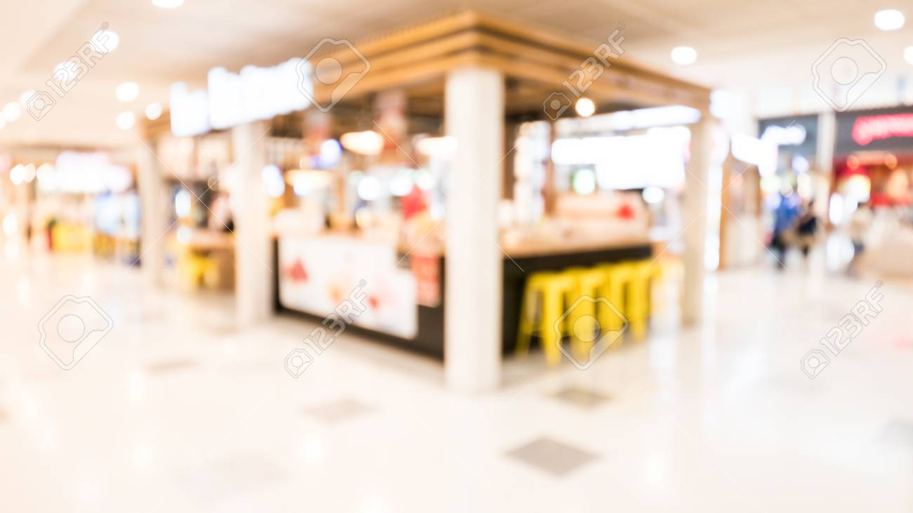 Abstract Blur Shopping Mall Background Stock Photo Picture And 1300x731