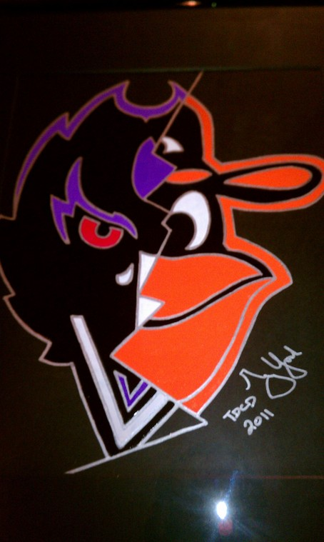York Original design Baltimore OriolesRavens logo Copyright 2011 454x759