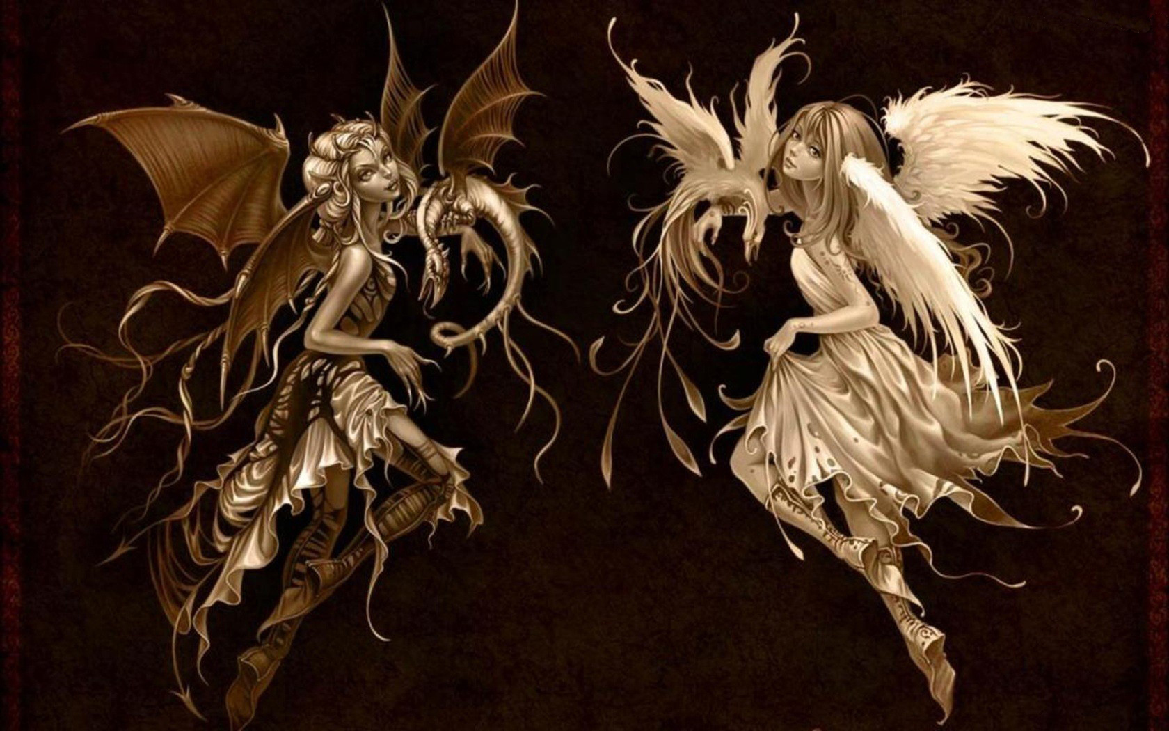 and Evil Fairy Wallpapers, Good and Evil Fairy Myspace Backgrounds ...
