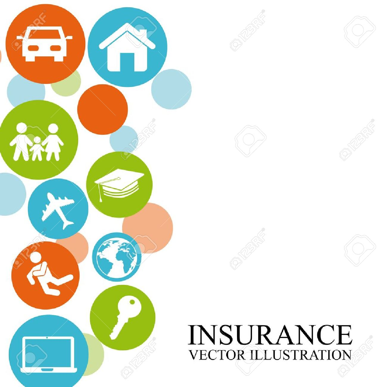 Insurance Design Over White Background Royalty Cliparts 1300x1300