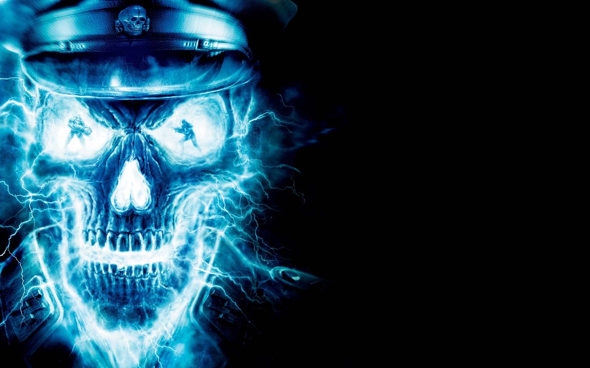 Dark Skull Wallpaper widescreen ImageBankbiz 1920x1200