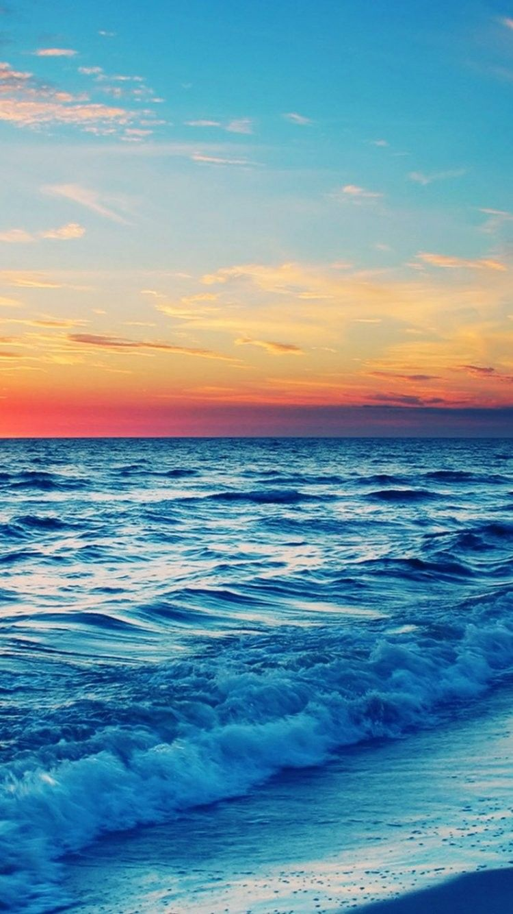 Stunning Ocean Sunset iPhone 6 Wallpaper 35977   Beach iPhone 6 750x1334