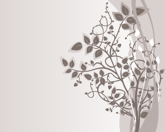 Brown Floral Vector Background 550x440