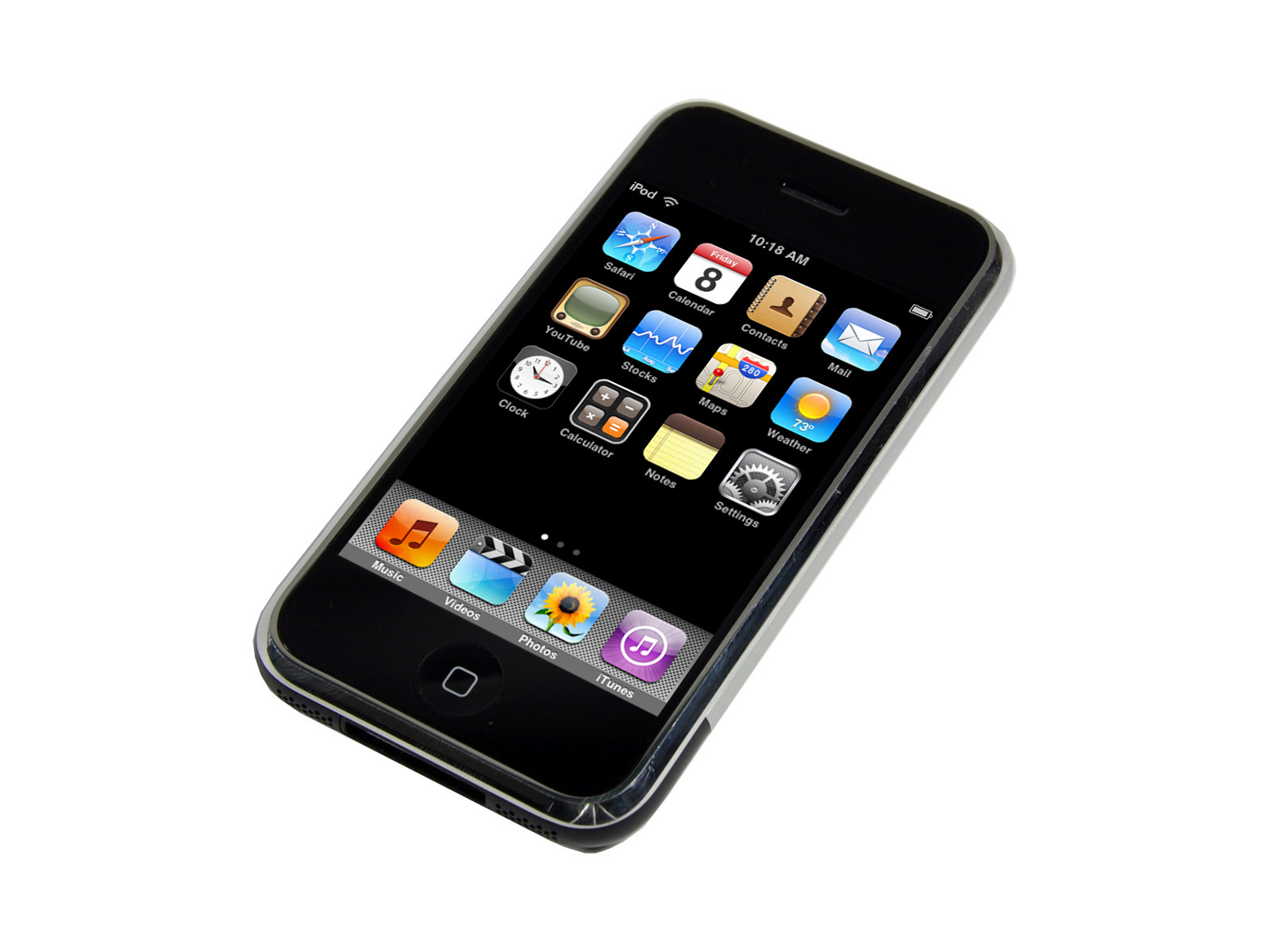 The first model of iPhone Model A1203 with 4 8 or 16 GB capacity 1600x1200