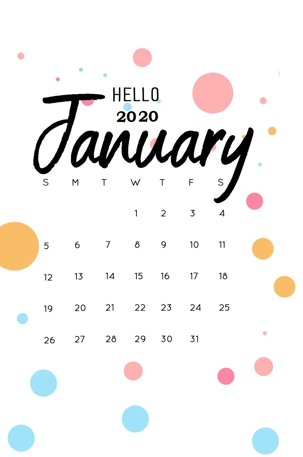 download iPhone January 2020 Wallpaper Calendar Latest 964x1454