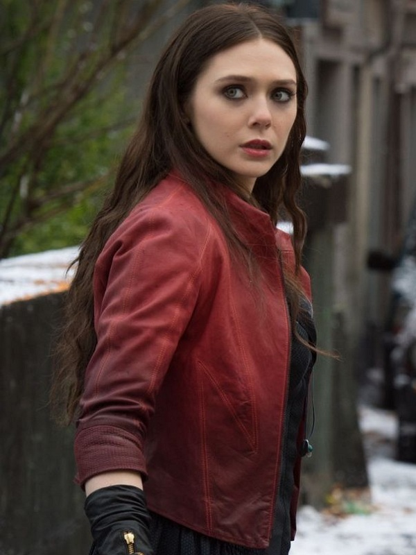 Jackets Elizabeth Olsen Age of Ultron Scarlet Witch leather Jacket 600x800