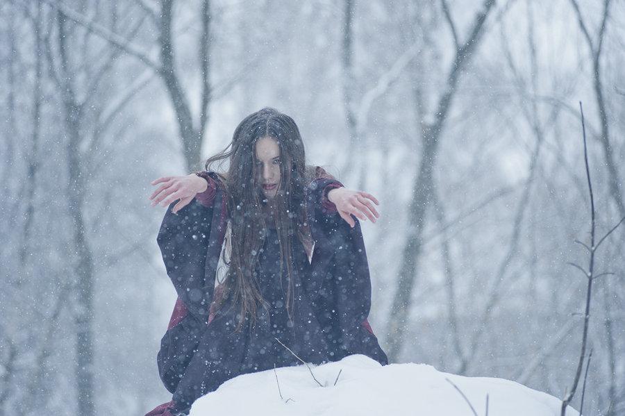 Winter Witch Wallpaper Winter witch by erynrandir 900x599