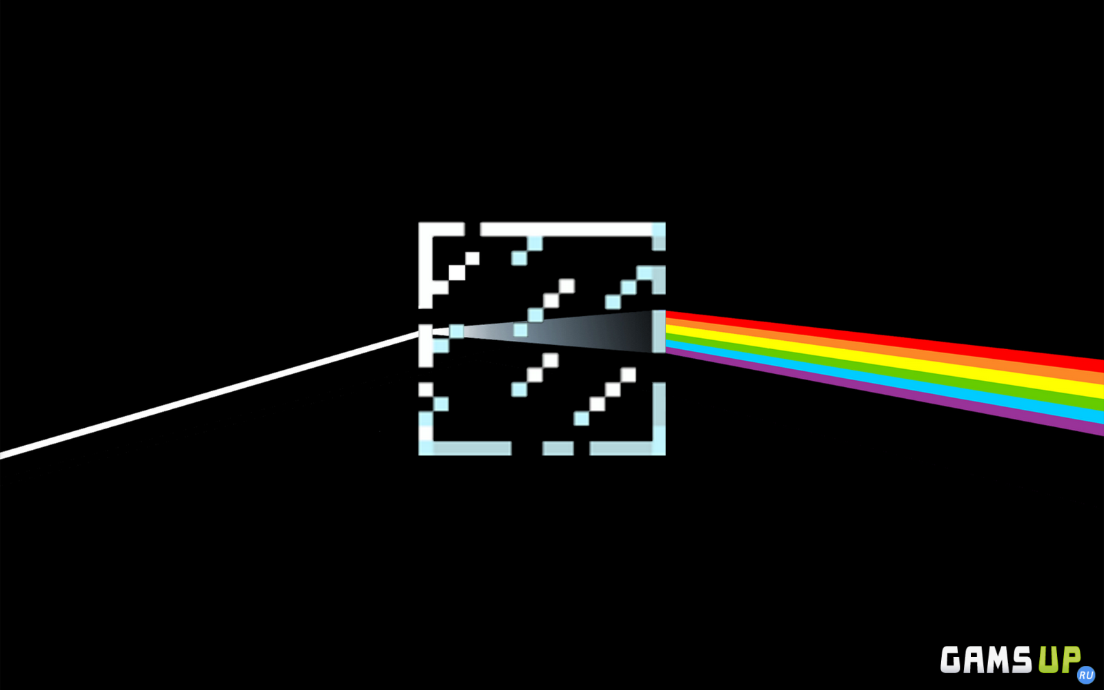 Minecraft Pink Floyd The Dark Side Of The Moon Glass block epic 1600x1000