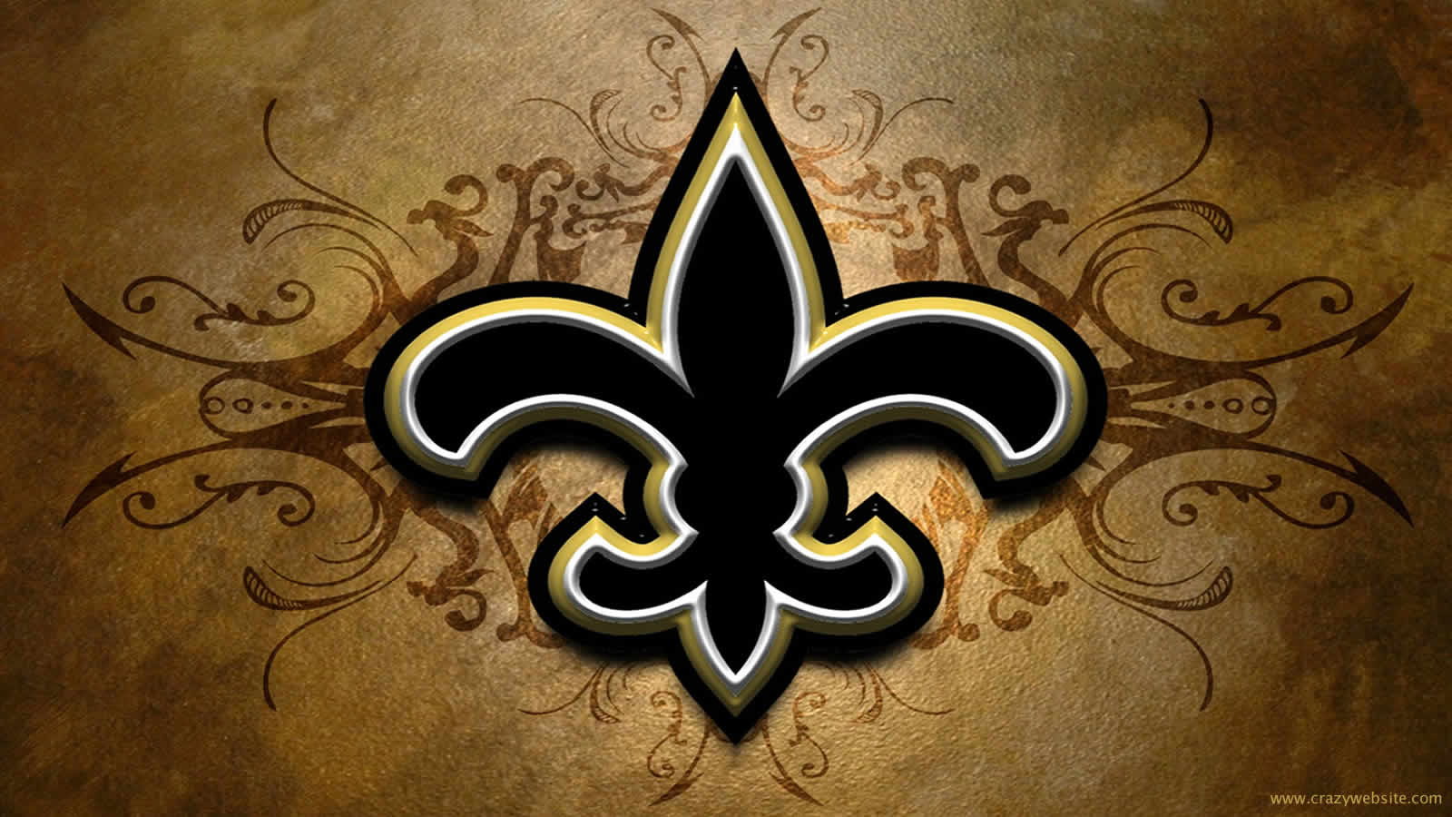 New Orleans Saints NFL football team logo wallpaper click thumbnail 1600x900
