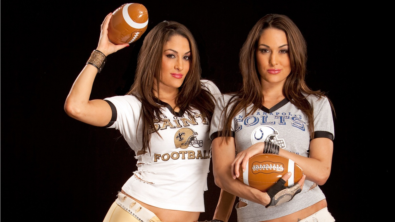 WWE WALLPAPERS The Bella twins Bellas Brie Bella Nikki Bella 1366x768