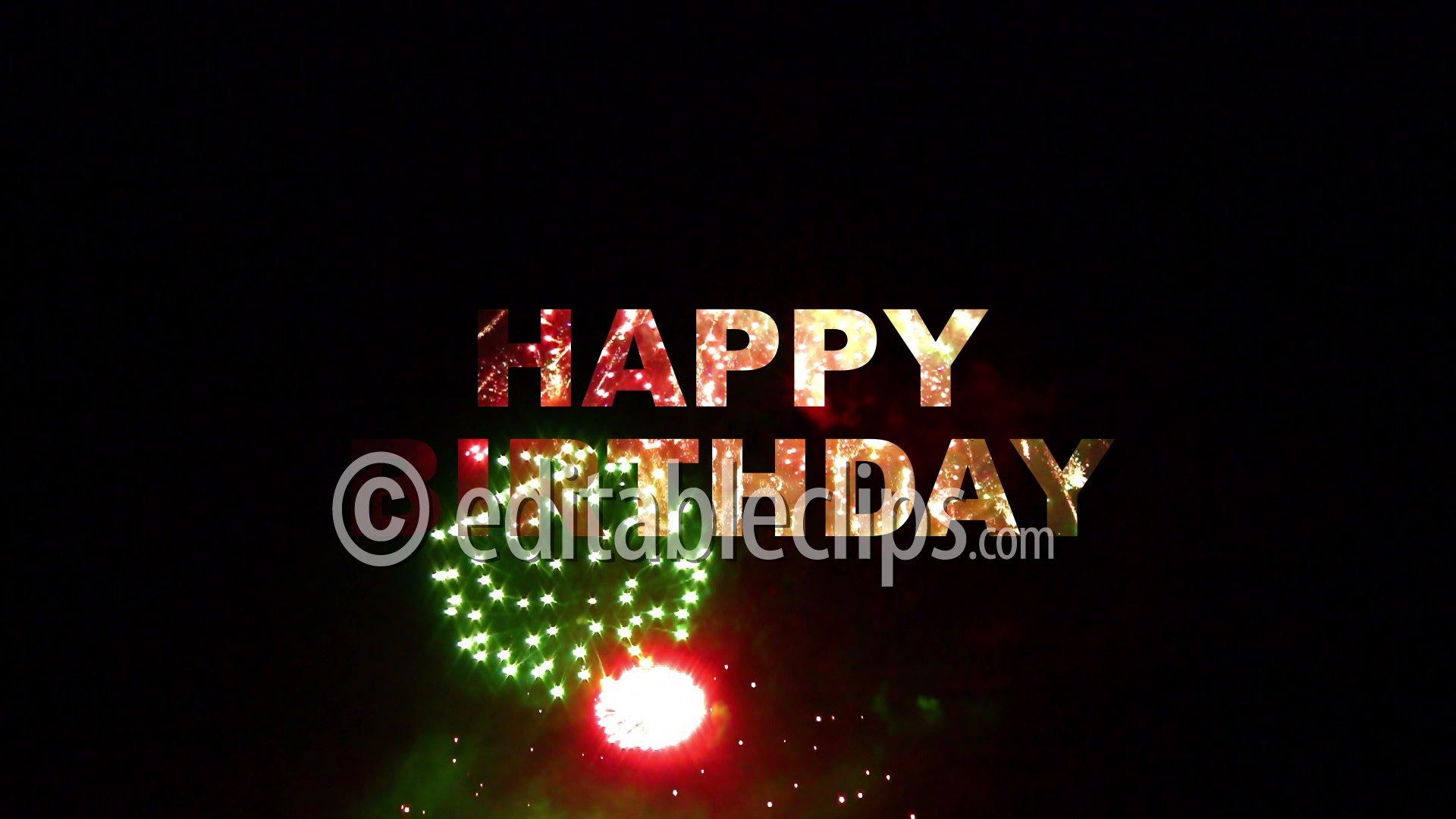 Happy Birthday Animation 1920x1080