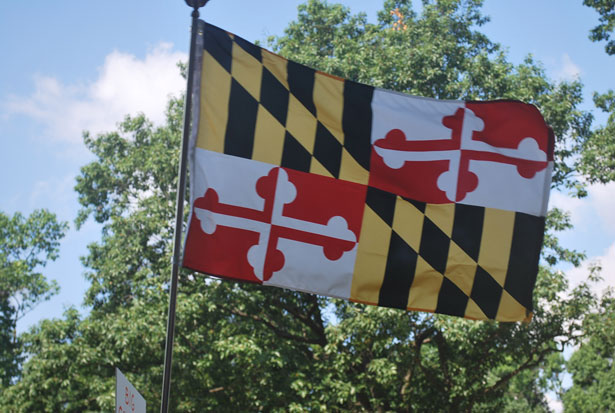 Md Flag Stock Photo   Public Domain Pictures 615x413