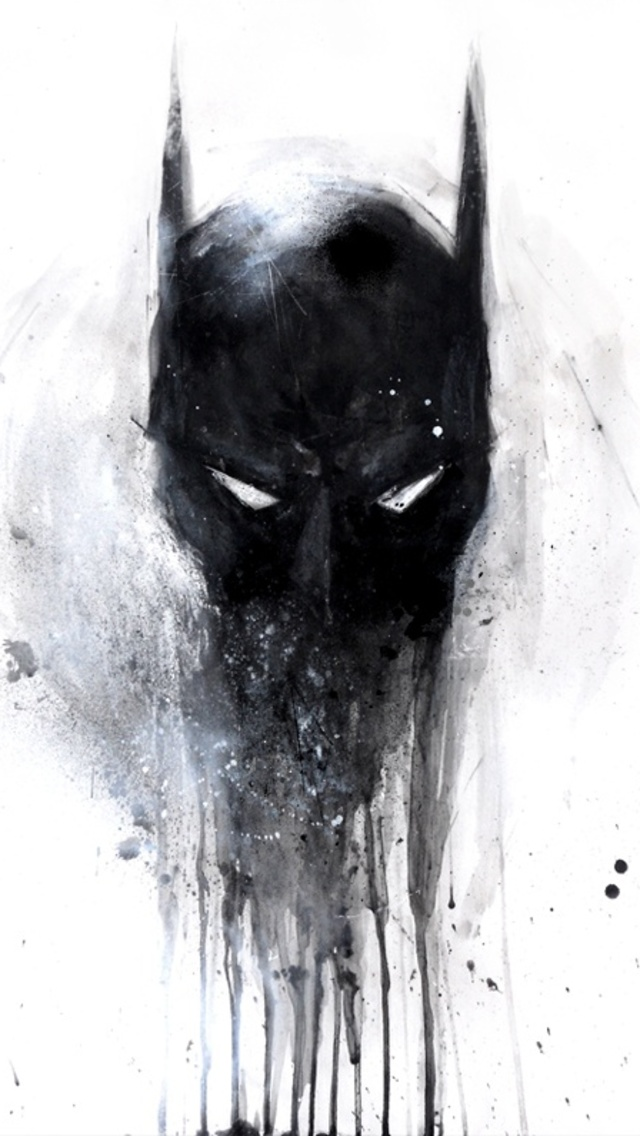 Batman Painting   The iPhone Wallpapers 640x1136