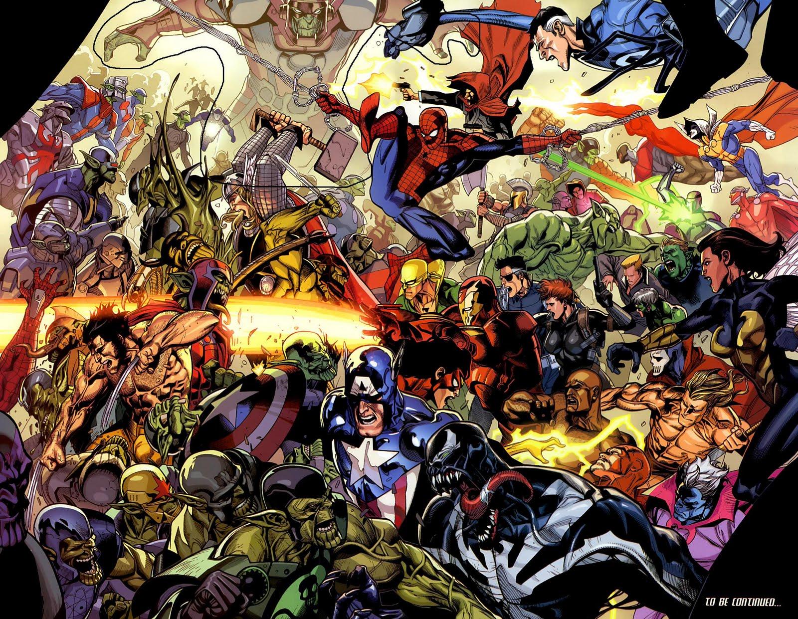 All Marvel Comics Together HD Desktop Wallpapers Cartoon 1600x1241