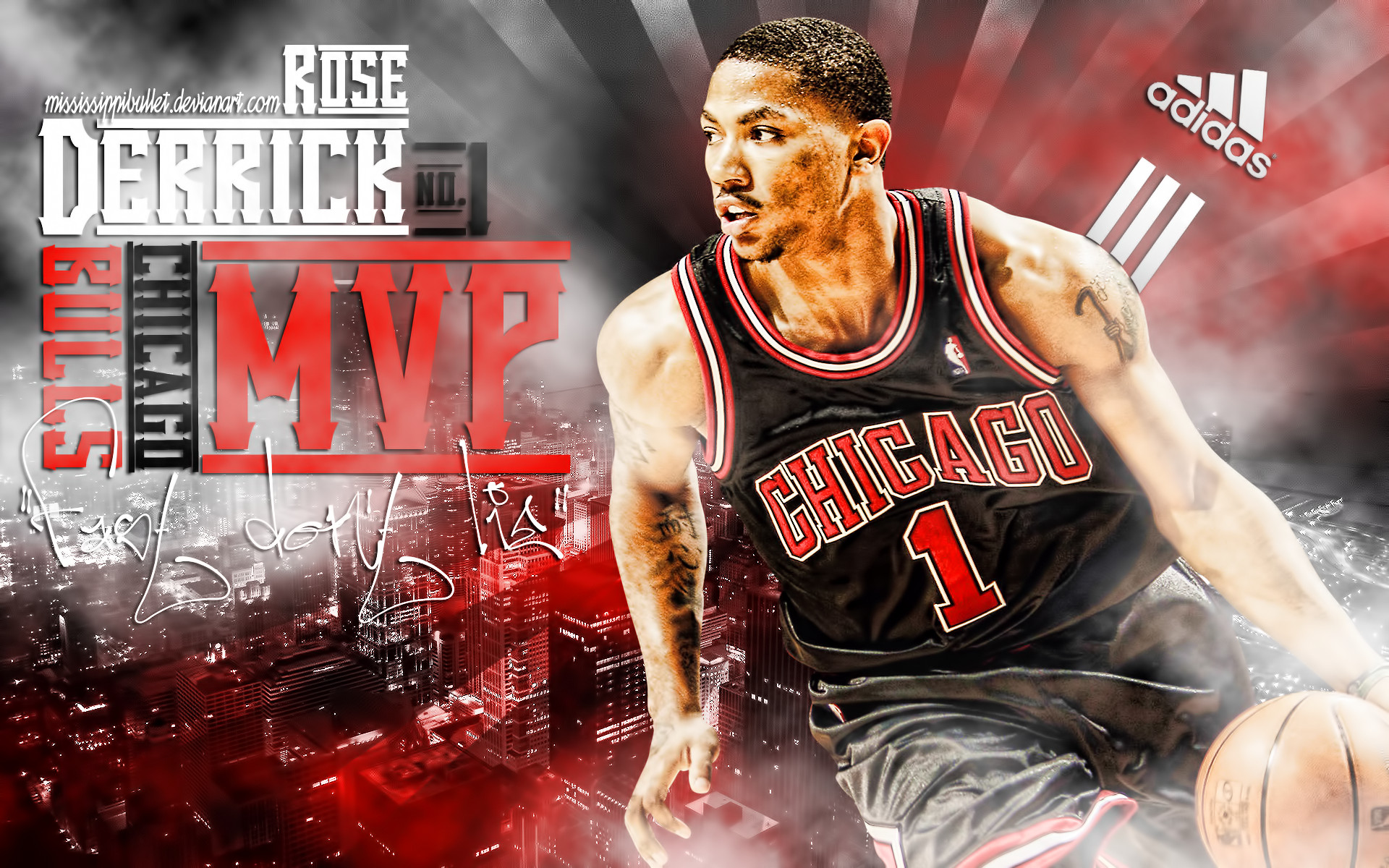 derrick rose wallpaper 2011 1920x1200