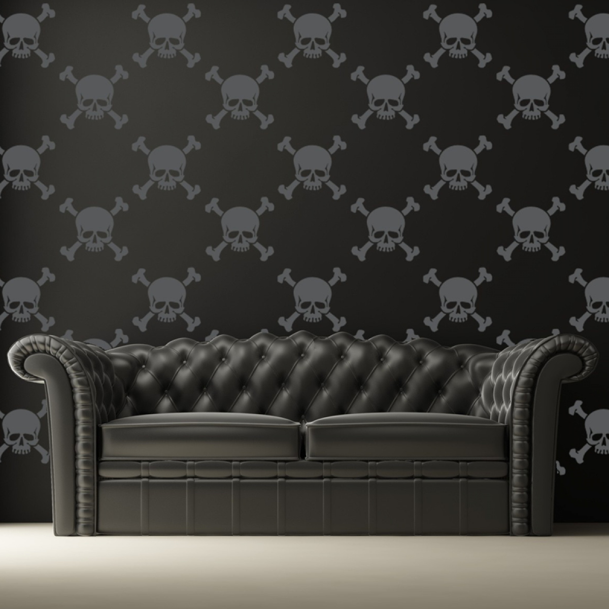 Skull Wallpaper For Walls Skull and crossbones wall 1200x1200