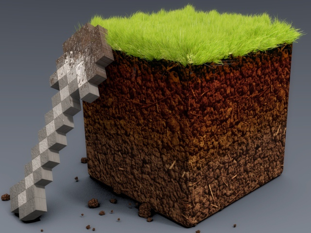 grass Minecraft shovel realistic wallpapers and images   wallpapers 640x480