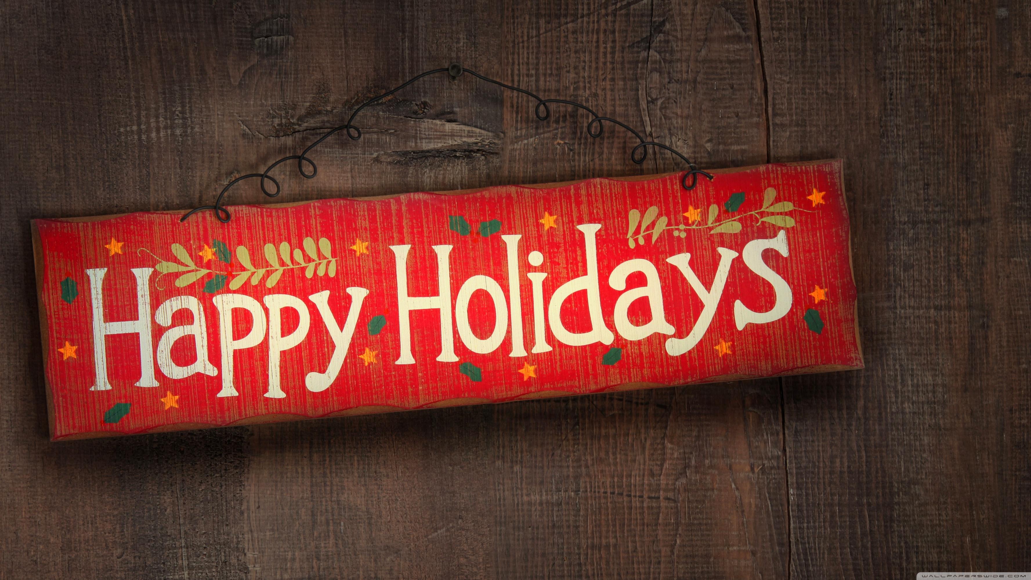 Happy Holidays 4K HD Desktop Wallpaper for 4K Ultra HD TV 3554x1999