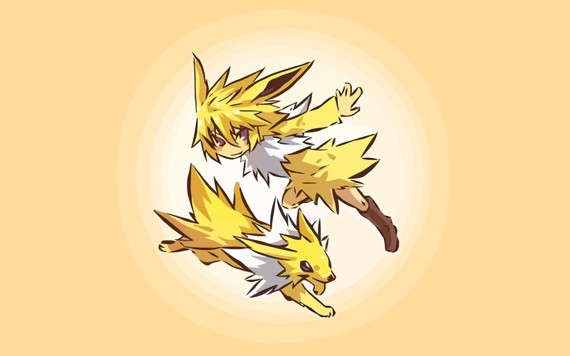 pokemon jolteon human pokemon 1680x1050 wallpaper Anime 800x500
