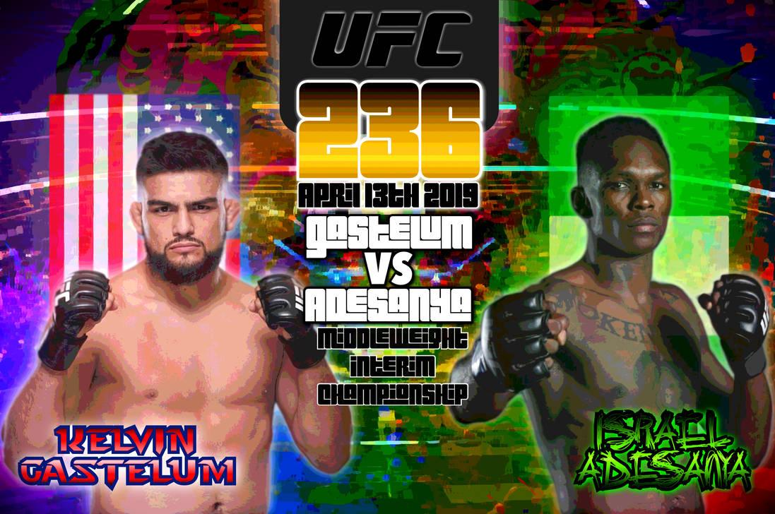 UFC 236 Kelvin Gastelum v Israel Adesanya by SoulReaper919 on 1097x728