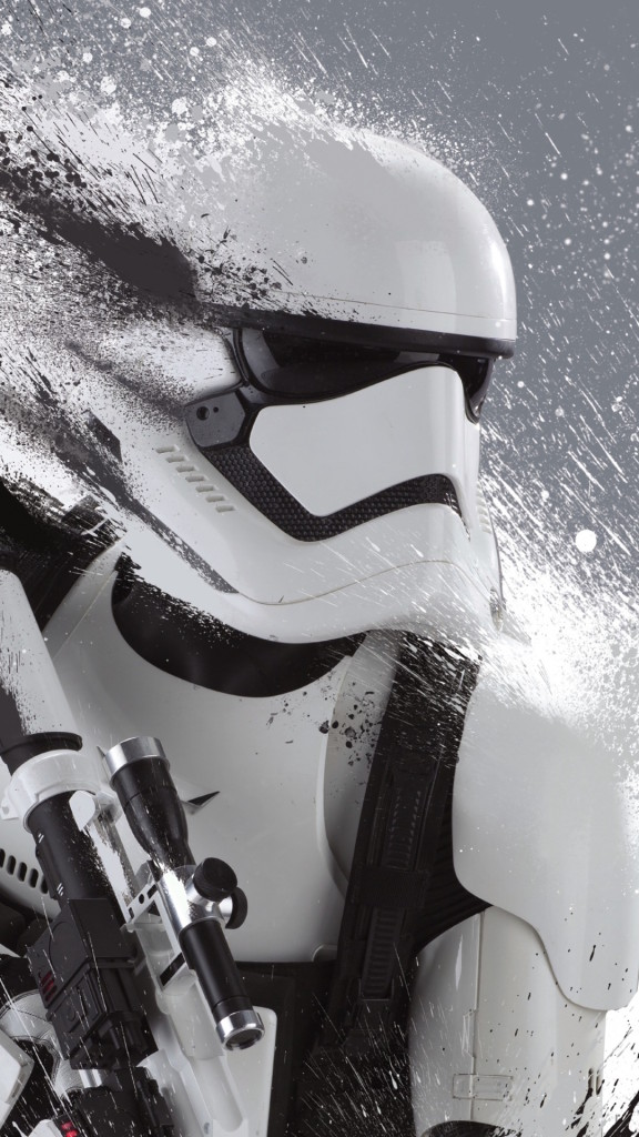 Star Wars The Force Awakens Wallpaper iDownloadBlog Stormtrooper Blast 576x1024