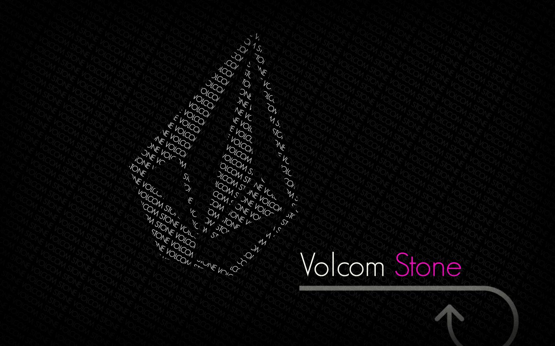 Volcom Desktop Wallpaper Grey Volcom Stone Logo Black Background HD 1440x900