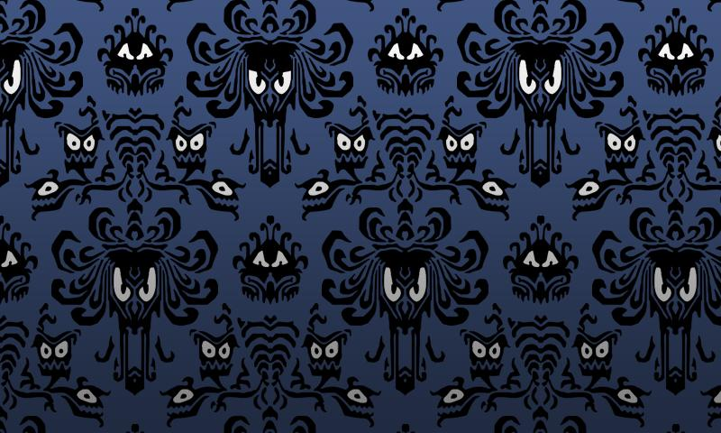 Haunted Mansion Wallpaper Stencil