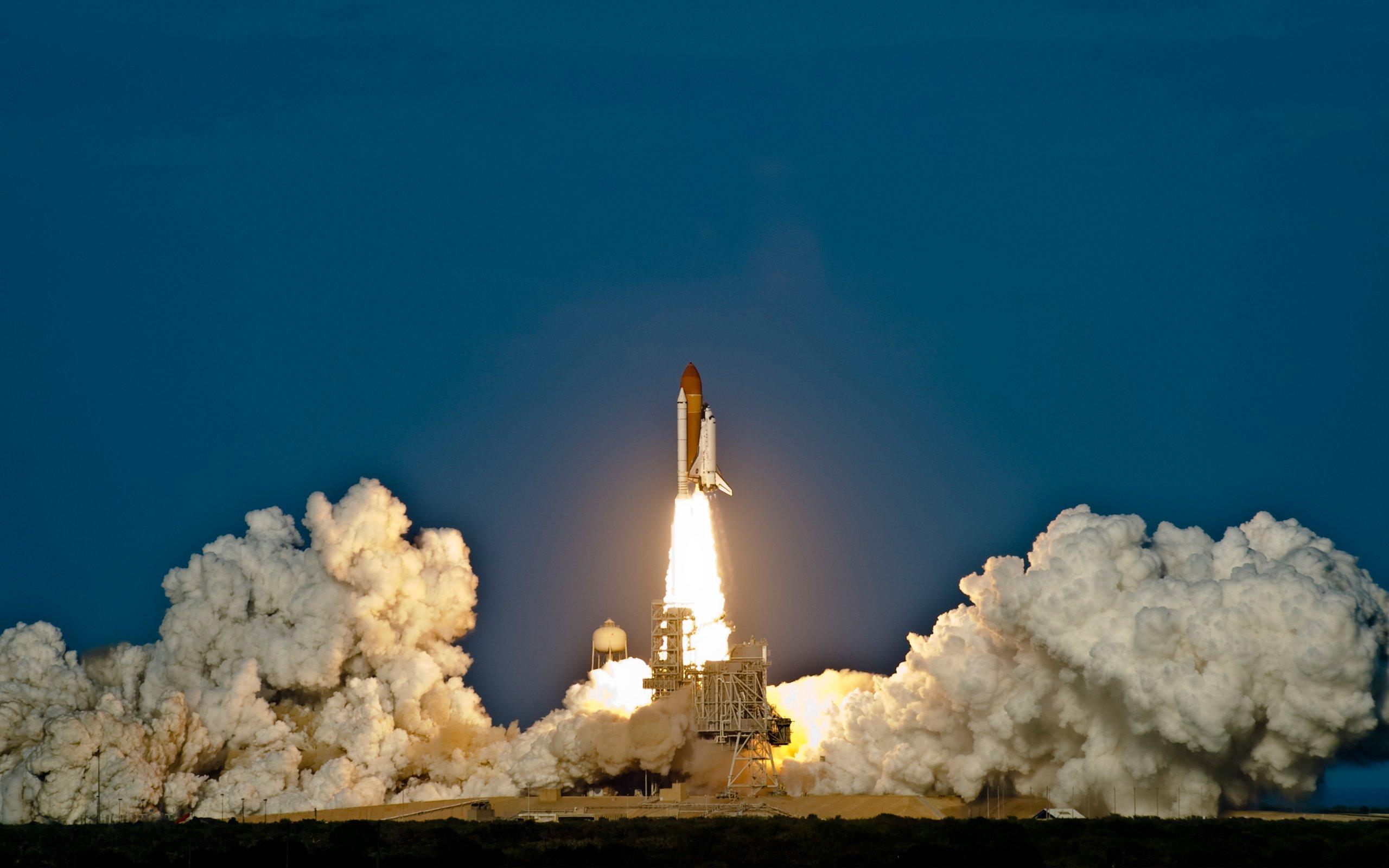 Space Shuttle Shuttle Takeoff HD wallpaper 2560x1600