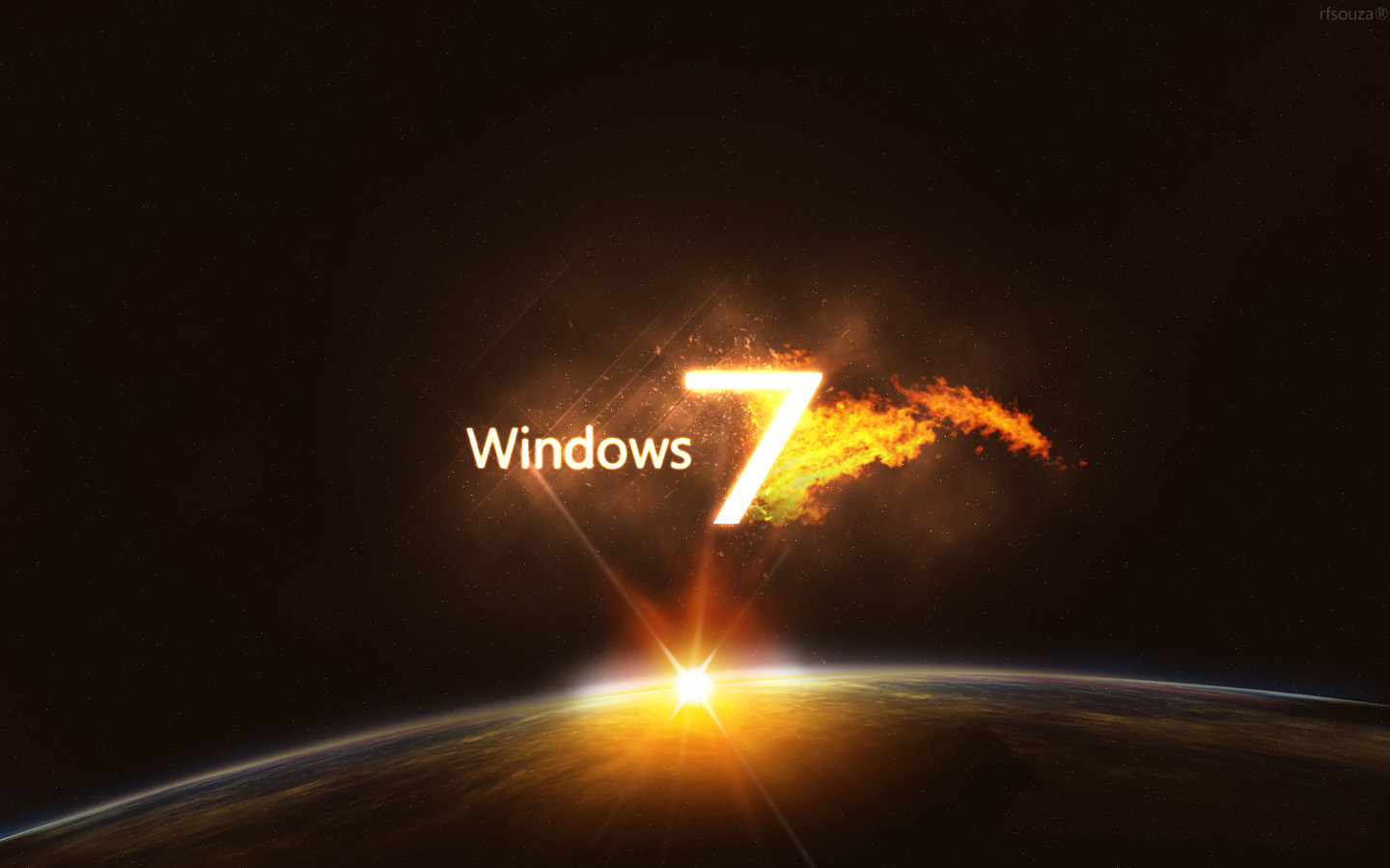 Wallpaper Windows 7 3D For Desktop 1440x900