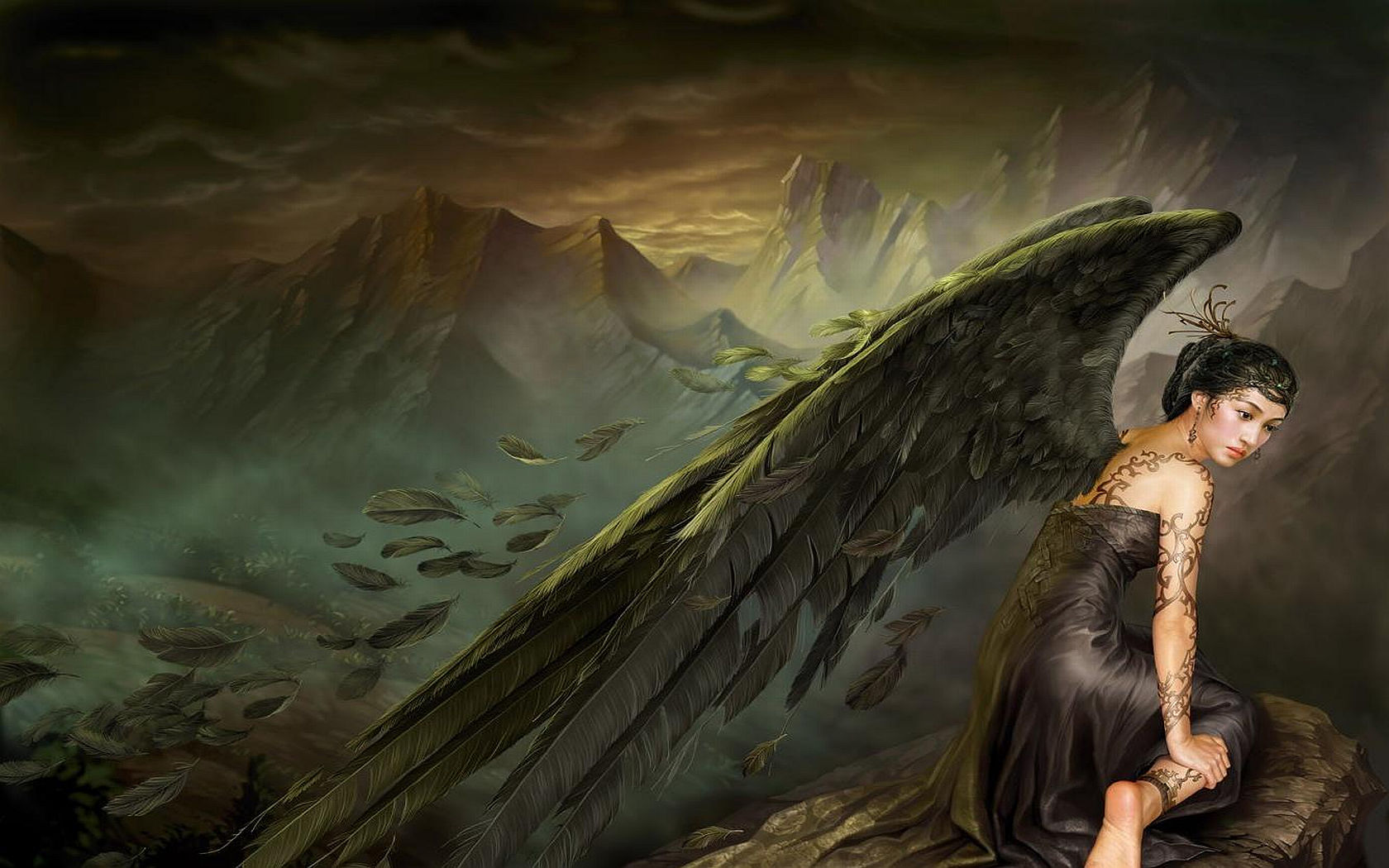 Fallen Angel Background Wallpapers On This Angel Background Wallpapers 1680x1050
