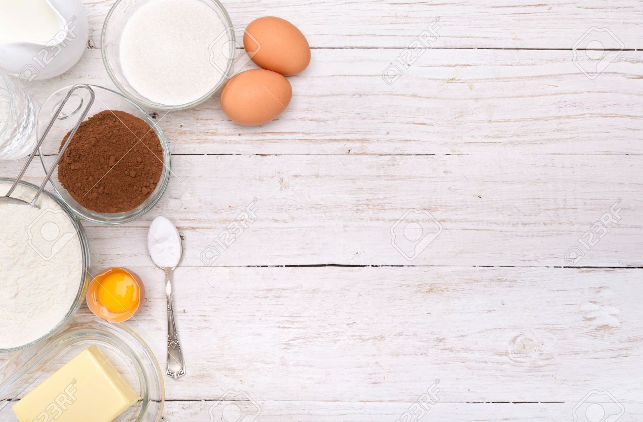 Baking Cake Ingredients Background Stock Photo Picture And 1300x853