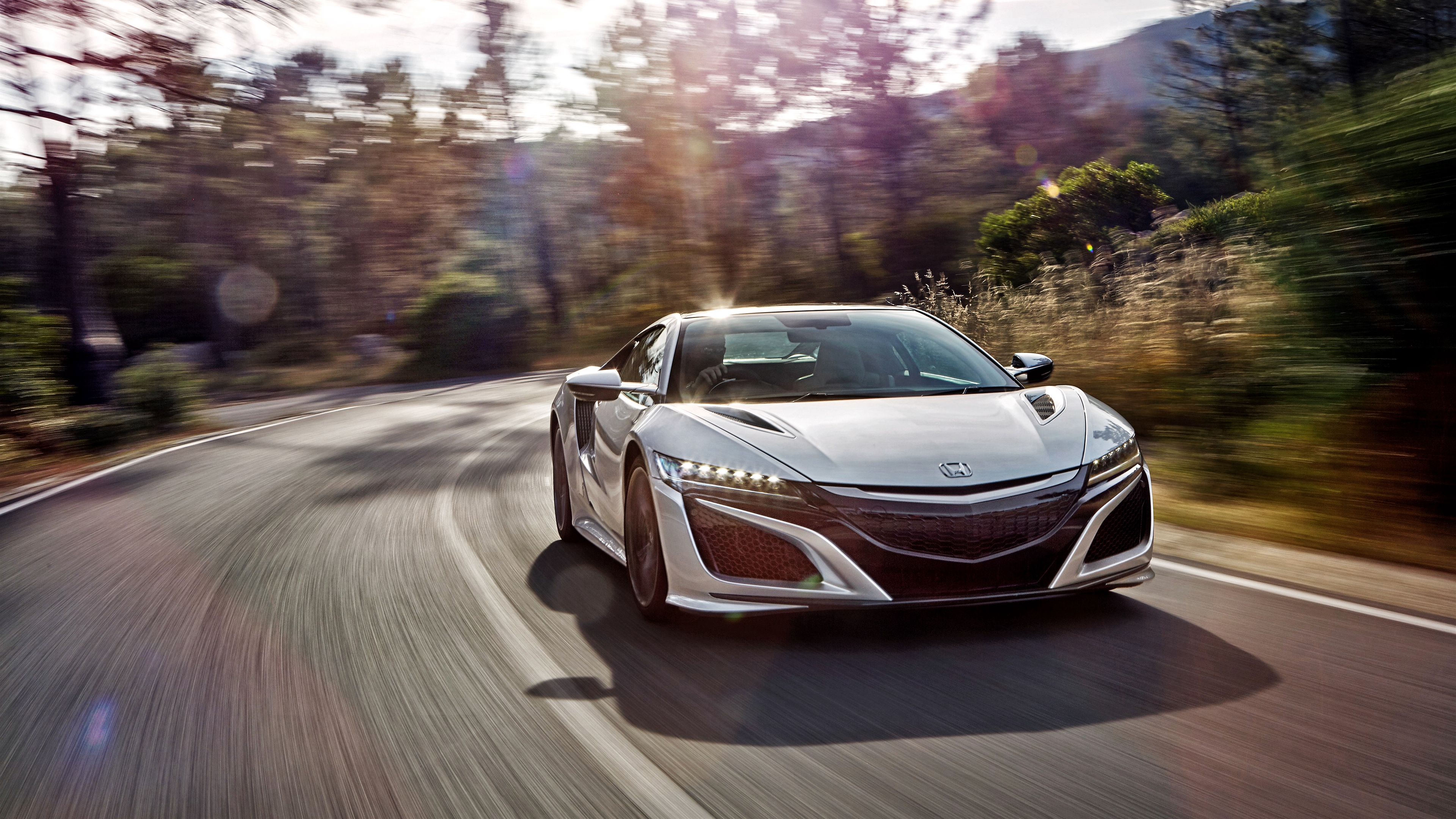 Download wallpaper 3840x2160 honda acura nsx front view speed 3840x2160