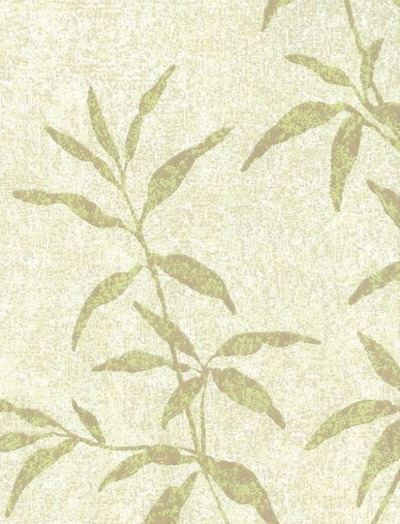 Asian Inspired Green Bamboo Leaf Wallpaper by WallpaperYourWorld 570x746