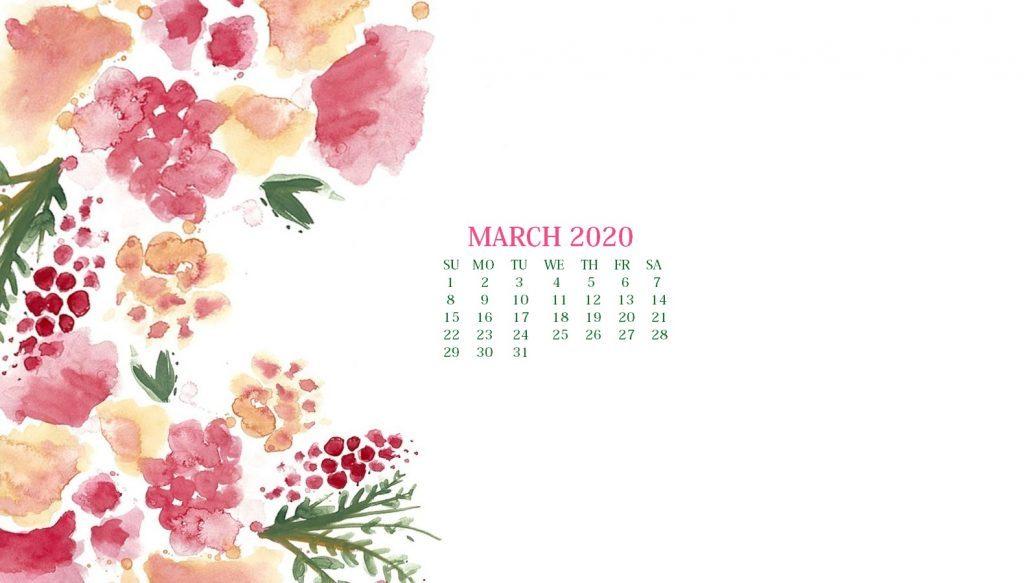 March 2020 Calendar Wallpaper For Desktop Laptop iPhone 1024x583